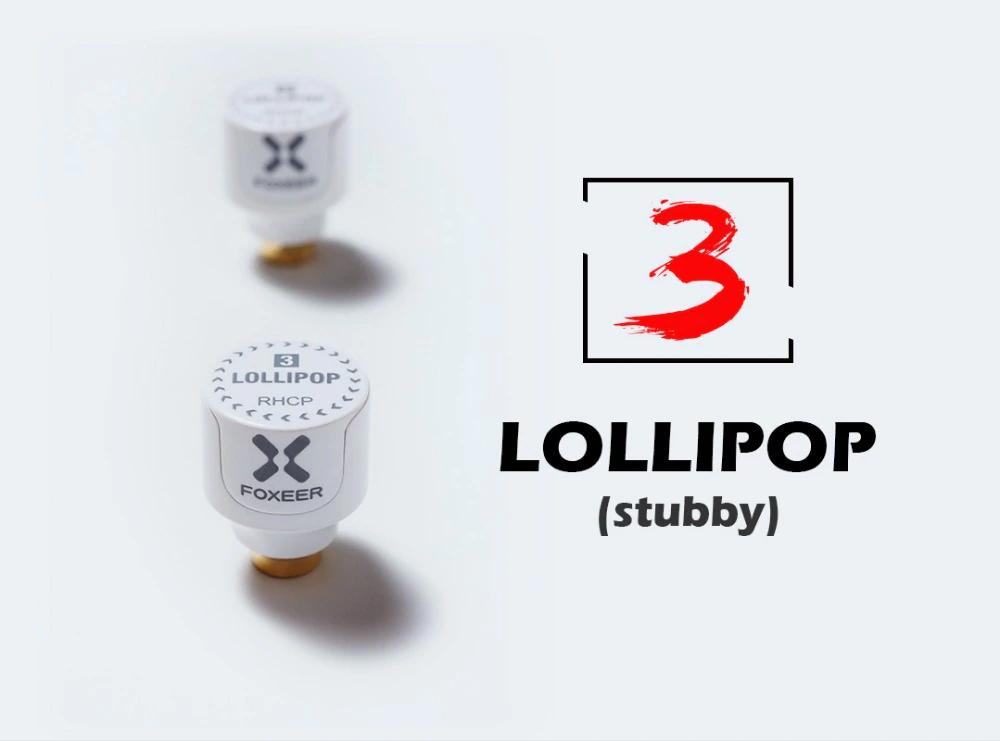 Foxeer Lollipop 3 Stubby 5.8G Omni Antenna SMA / RHCP mini 22.7mm Antenna